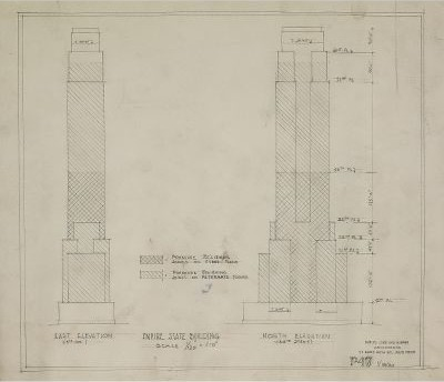 Rare architectural drawings for sale the empire state building malvernweather